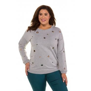 Ulla Popken  Sweatshirt Damen Größe 58/60, grau, Mode in großen Größen