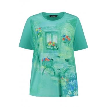 d4726a9e9f Ulla Popken T-Shirt Damen, mint, Baumwolle, Mode in großen Größen ...