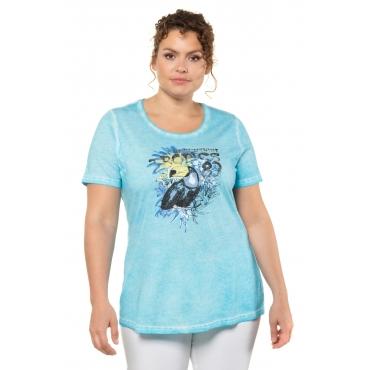 Ulla Popken  T-Shirt -  Damen 58/60, arizonablau, Baumwolle, Mode in großen Größen