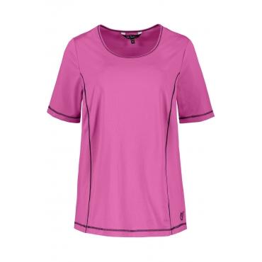 Ulla Popken T-Shirt Damen, brombeer-magenta, Mode in großen Größen