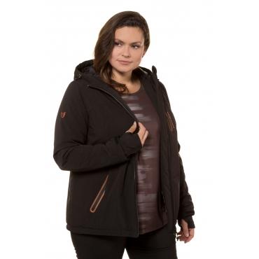 Ulla Popken Thermo-Jacke Damen, schwarz, Mode in großen Größen