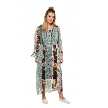 Ulla Popken Tunikakleid Damen, multicolor, Polyester, Mode in großen Größen